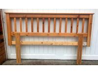 Wooden pine double headboard