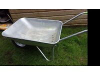 Wheelbarrow with hard tyre