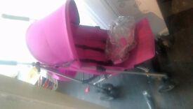 stroller (pink)