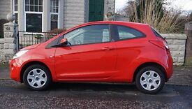 2015 Ford Ka Edge, 1.2 petrol, 3door, red. £30 PA tax, insurance group 3. Start/Stop