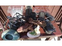 Job lot of fish tank equipment