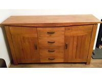 oak furniture land Tokyo brown teak mango sideboard. Used but in good condition - a few small marks