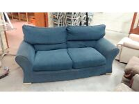 Blue two seater sofa 190cm