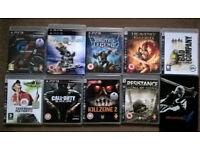 8x PS3 Playstation 3 games includes GT5, Vanquish, Heavenly Sword, Killzone 2 etc