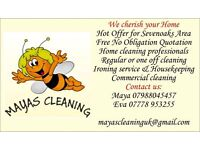 Mayascleaninguk can offer one-off or regular domestic,commercial cleaning services & ironing.