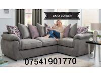 New Cara grey corner sofa FREE DELIVERY