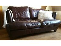 `Real' Leather 2 seater Sofa and Chair