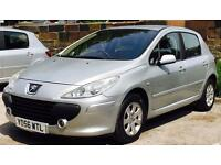 2006 (SEP06) PEUGEOT 1.6 307 - DIESEL - 5 DOORS - LOW MILES - MANUAL - SILVER