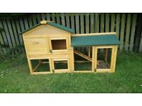 Guinea pig hutch with run.