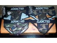 Mens ADDICTED Camo Underwear Set