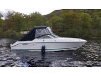 Power boat - twin axel trailer