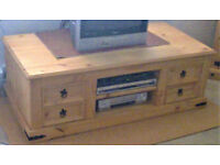 Mexican Corona Solid Pine Large TV Unit / Coffee Table