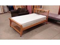 Wood small double bed frame with Times beds Regency Memory foam Pocket spring mattress