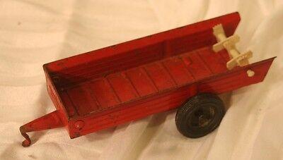vintage ERTL feeder trailer, red