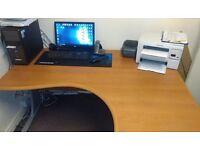 Office corner computer desk