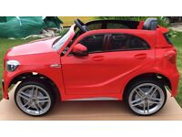 Red Mercedes A Class AMG Kids ride on car. Brand new and boxed.