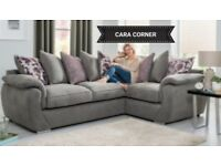 Quality Grey Cara corner sofa**Free delivery**