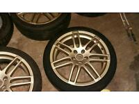 Golf RS4 18 style alloy wheels