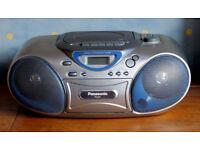 Panasonic compact cd/casette/radio player (As new)