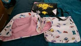 Bugaboo bee 3 Andy warhol pink butterflies hood and tote bag