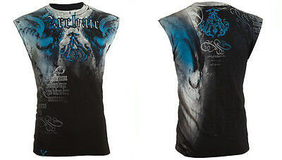 Archaic Affliction Mens T Shirt Sleeveless Tattoo Fight Biker Gym Mma Ufc  40 C