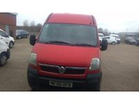 Vauxhall Movano 3500 LWB Panel Van in red