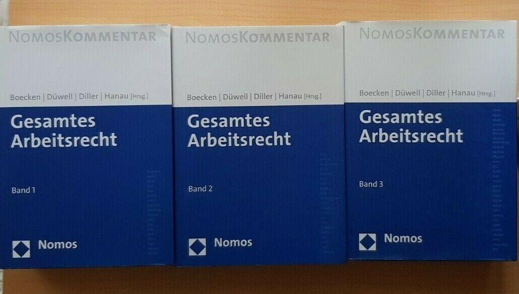 Boecken Düwell Diller Hanau GESAMTES ARBEITSRECHT KOMMENTAR 3 Bände BGB ZPO KSch