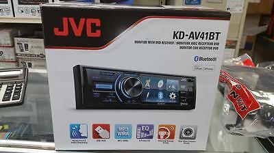 "JVC KD-AV41BT 1-DIN In-Dash DVD CD USB Bluetooth Receiver w/ 3"" QVGA Display"