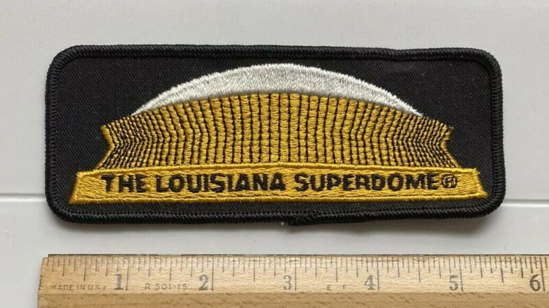 """The Louisiana Superdome New Orleans Football Stadium 5.5"""" Long Embroidered Patch"""