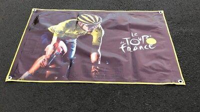 Tour de France Lienzo Vinilo Banner Carrera Bicicletas Póster Armstrong Casco