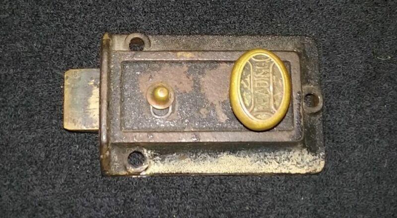 Vintage Reading Hardware Door Lock