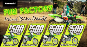 Kawasaki KLX 110L Save $500 Fun Factory Mini Bike Deal Rutherford Maitland Area Preview