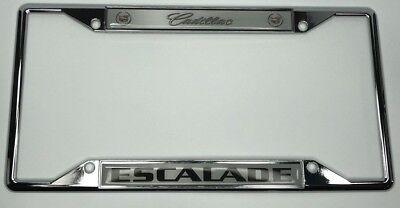 Chrome Cadillac Escalade License Plate Frame
