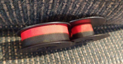 1 Solid Black + Black and Red 1 Olivetti Editor 5 Typewriter Ribbon 2 Pack -