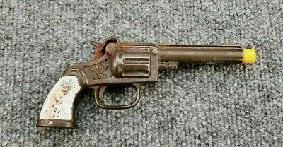 Vintage Antique Stevens Scout Cast Iron Pistol Toy Cap Gun USA Western Cowboy
