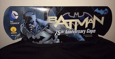 Batman 75th Anniversary Cape Umhang Rubies Adult Size Dc Comics New (Dc Comic Figur Kostüm)