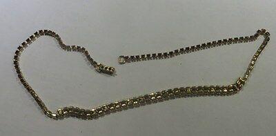 Collier ras du cou plaqué or avec nombreux zircons