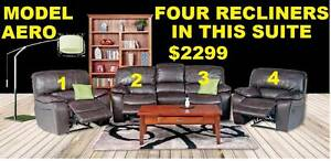 New Lounge Recliner Suite Large With 4 Recliners. Ipswich Region Preview