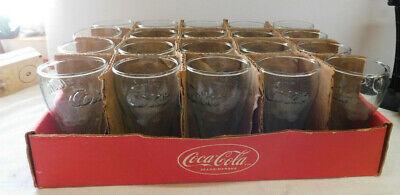 Vtg 2001 ~ Mini Coca-Cola Green Glass 6 oz Old Fountain Style New w/label