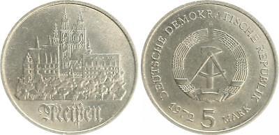 5 Mark Meißen DDR 1972 Fehlprägung ohne Randschrift nur 3 Exemplare !!! vz-prfr.