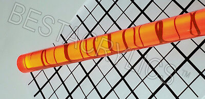 1 Diameter 24 Long Clear Translucent Orange Acrylic Plexiglass Lucite Rod 25mm