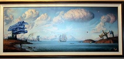 Journey Framed - VLADIMIR KUSH - METAPHORICAL JOURNEY - FRAMED - SIGNED & NUM - GICLEE ON CANVAS