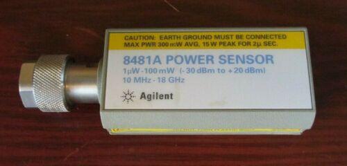 Agilent / HP 8481A Power Sensor **TESTED** 10MHz 18GHz 1uW 100mW (-30dBm 20dBm)