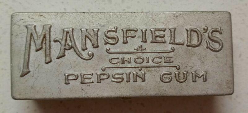 Vintage Mansfield's Choice Pepsin Gum Tin