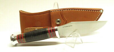 Bark River Knives Trailmate II, CPM-154, Black Stacked Leather, Woodcraft, Hike