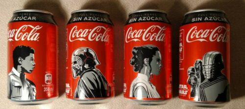 SET OF 4 CHILE COCA COLA STAR WARS EMPTY CANS.