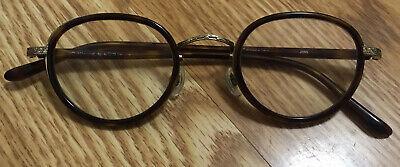 JINS Eyewear MCF-15S-U084 C86 Tortoise Round Eyeglasses Frame RX 46▫️23 148 (Jins Glasses)