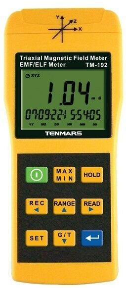 3-Axis Low-Frequency 30-2KHz ELF Electromagnetic Field Tester Gauss Meter USB