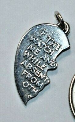 JAMES AVERY Sterling Silver Lord Watch Over Thee HALF Heart UNCUT Charm Pendant