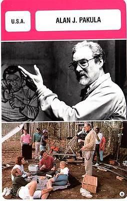 FICHE CINEMA :  ALAN J. PAKULA -  USA (Biographie/Filmographie)